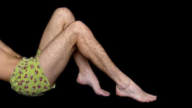 Сон брить ноги