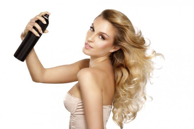 Состав средства для укладки волос