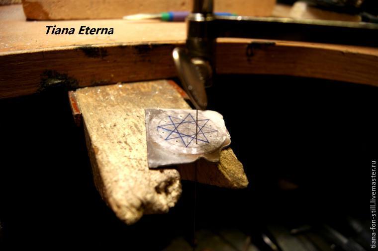 Создание оберега «Восьмиконечная звезда с опалом». Часть первая, фото № 7