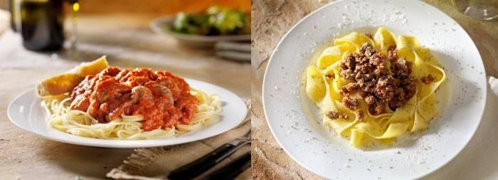 Спагетти болоньез со сливками