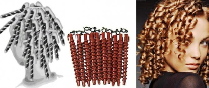 Спиральная техника накручивания бигуди