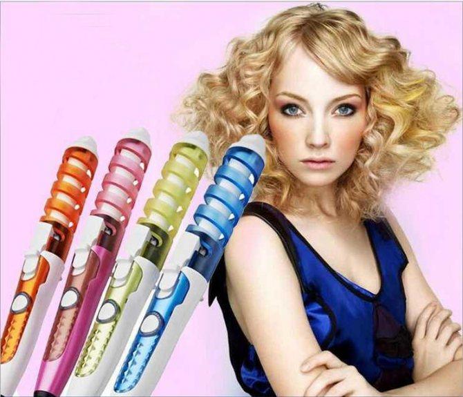Спиральные плойки для завивки волос