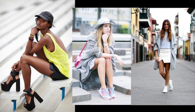 Спорт шик в одежде на городских улицах