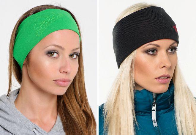 спортивная повязка для волос
