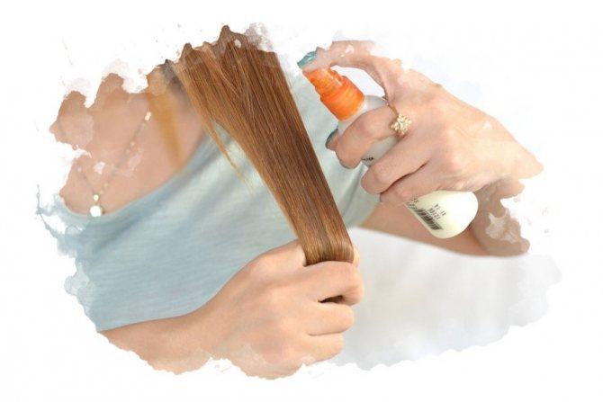 спрей для защиты волос