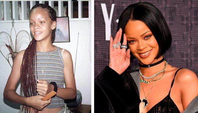Сравните фото Рианны в юности и сейчас