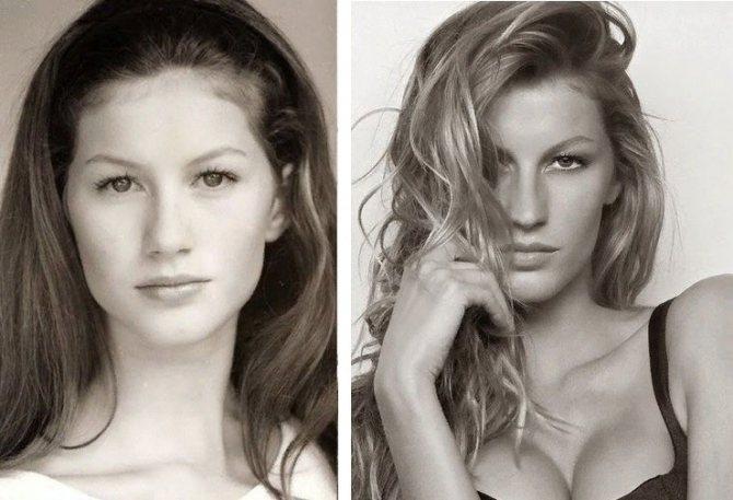 Сравните фото Жизель Бюндхен в молодости и сейчас
