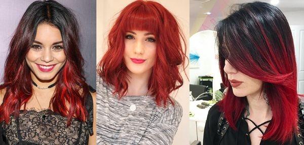 средние красные волосы