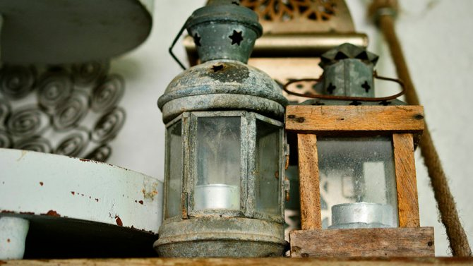 старые фонари из кладовки