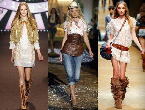 Стиль кантри в коллекциях современных модельеров
