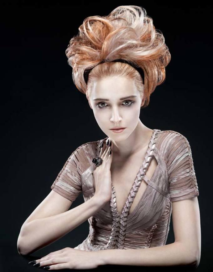 Стиль поп-арт в прическах на длинные волосы: фото