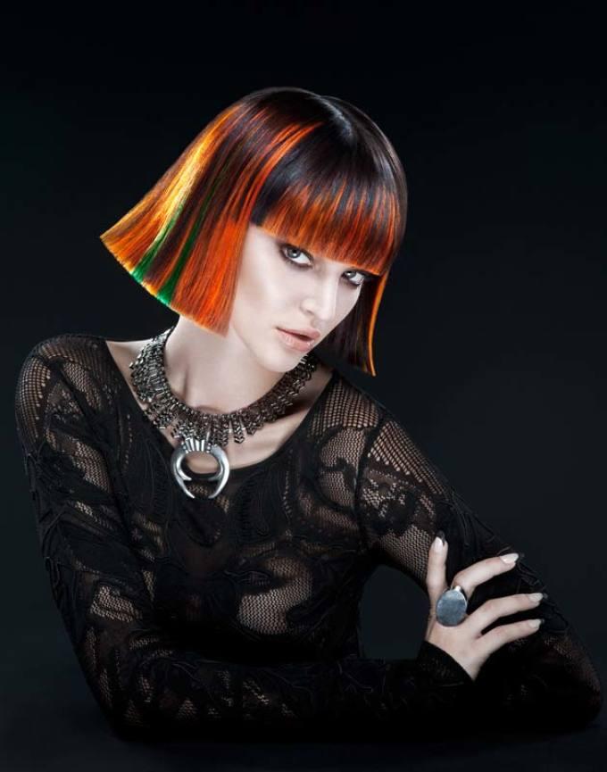 Стиль поп-арт в прическах на короткие волосы: фото