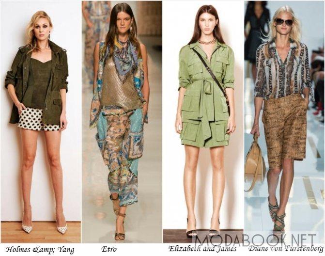 Стиль сафари в летней моде 2014 года