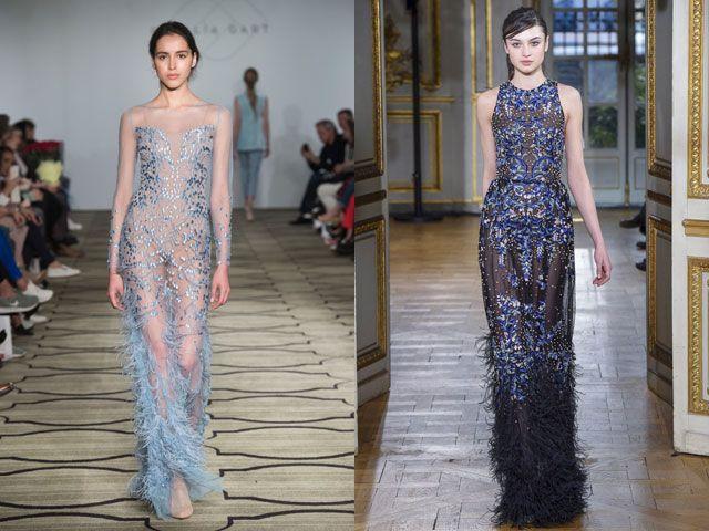 Стильные вечерние платья с перьями осень-зима 2019-2020