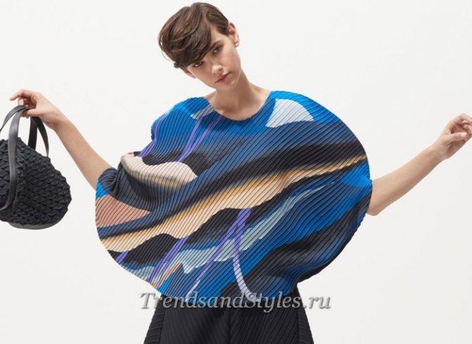 стильные женские блузки 20190 из сжатых тканей