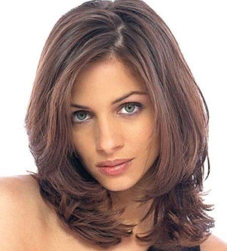 Стрижка Каскад на средние волосы - варианты с челкой и без, для круглого, овального лица. Фото и как стричь