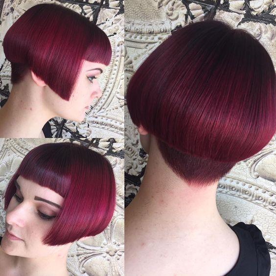 Стрижка паж на густых ровных волосах
