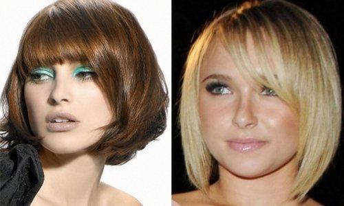 Стрижки для средних волос и круглого типа лица