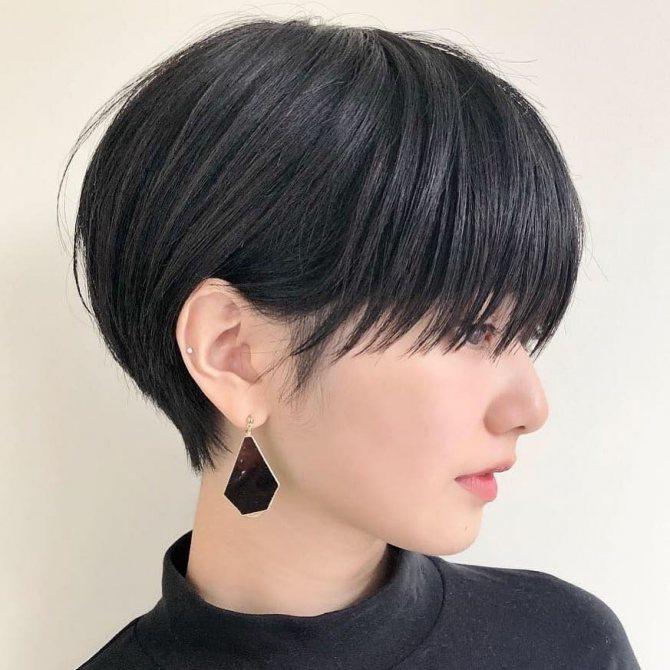 стрижки на короткие волосы с прямой челкой 2019-2020 фото 4