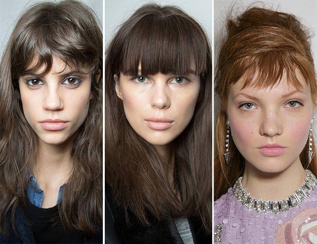 Стрижки с челкой на длинные волосы 2020: фото 1
