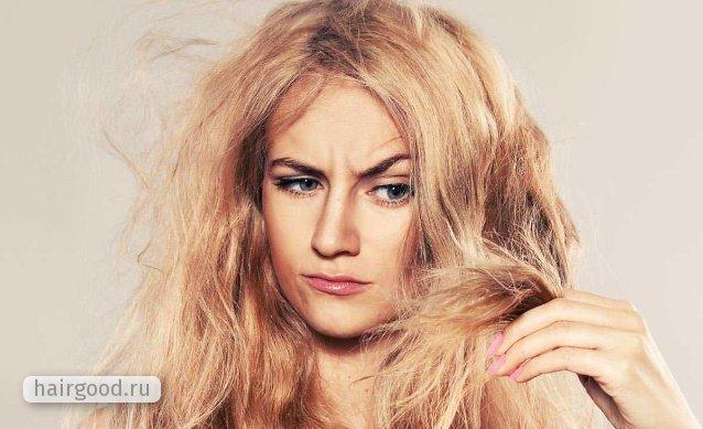 Сухие светлые волосы