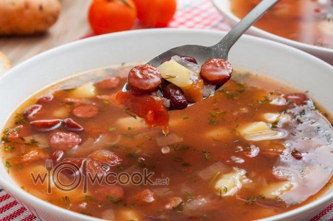 суп фасолевый из консервированной красной фасоли рецепт