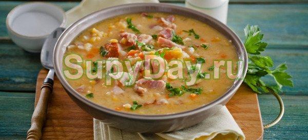 Суп гороховый с уткой