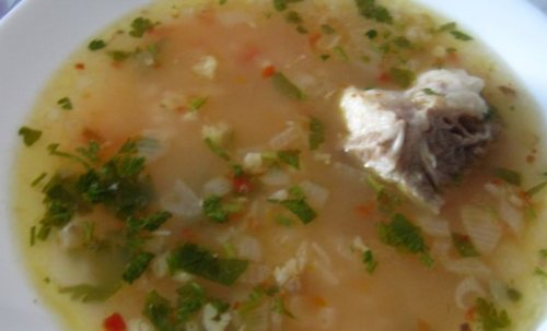 Суп харчо из говядины с аджикой