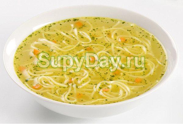 Суп из утятины с домашней лапшой