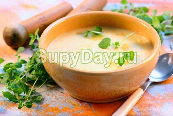 Суп-пюре гороховый с куриным мясом