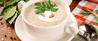 Суп-пюре из шампиньонов со сливками - классические рецепты