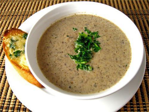 Суп-пюре из замороженных грибов