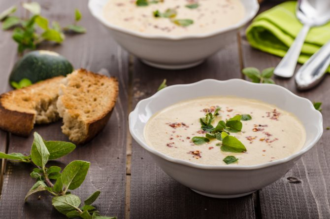 Суп-пюре со сливками рецепт
