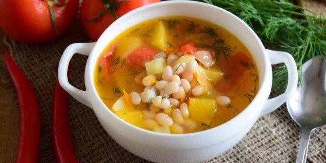 Суп с белой фасолью