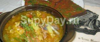 Суп с консервированной сайрой и яйцом