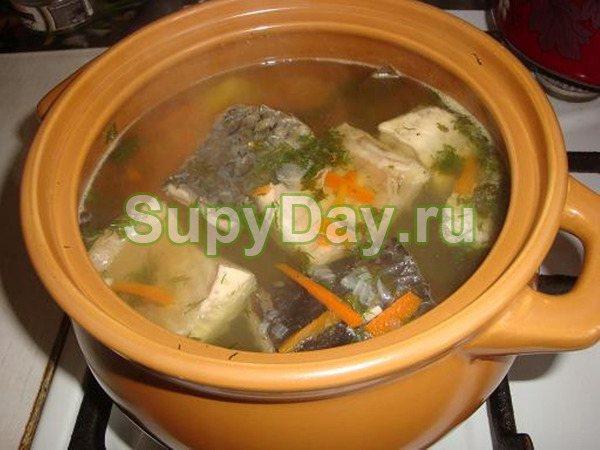 Суп с сайрой за 7 минут