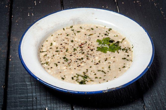 Суп с шампиньонами и баклажанами рецепт