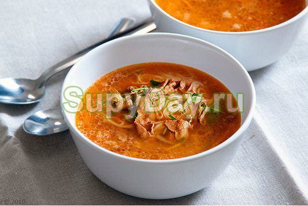 Суп с уткой и пекинской капустой