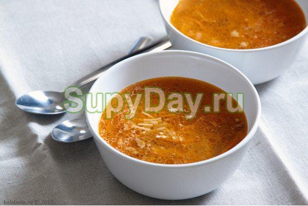 Суп с уткой и томатами