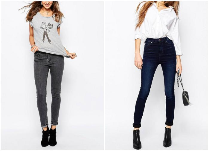 Супер узкие джинсы