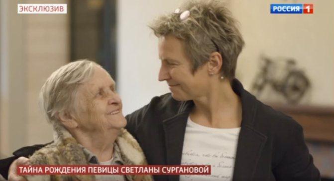 Сурганова с приемной мамой