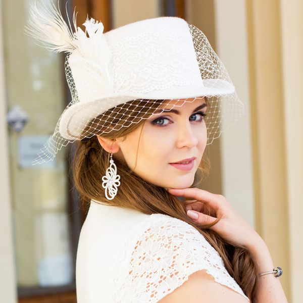 свадебная шляпка своими руками
