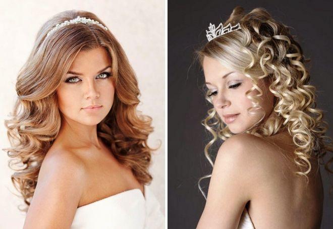 свадебные прически с диадемой без фаты