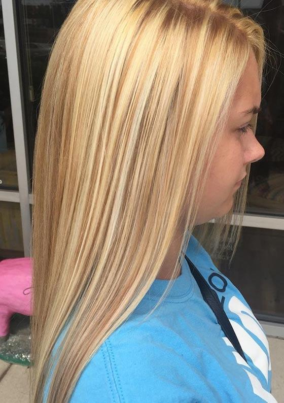 Светлые блонд с бликами