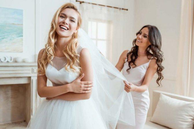 Свидетельница должна быть готова успокоить волнующуюся невесту