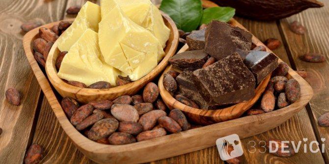 свойство масло какао