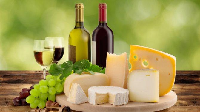 сыр - закуска к вину