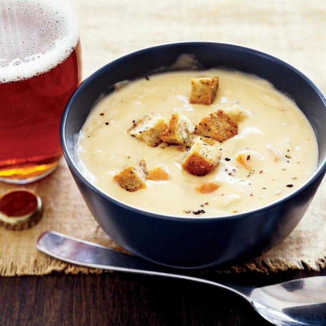сырный суп из твердого сыра рецепт
