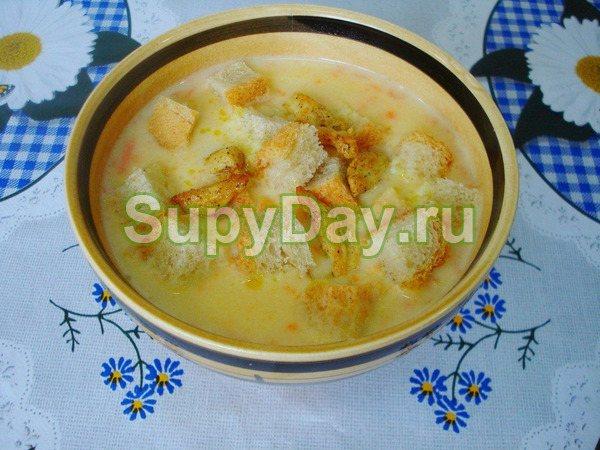 Сырный суп-пюре с курицей – классический рецепт