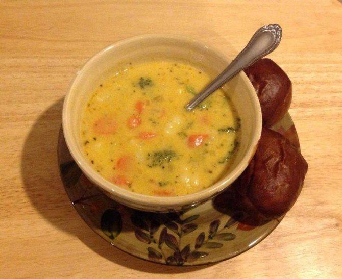 сырный суп с твердым сыром простой